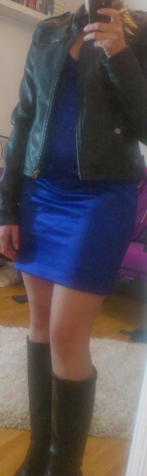 Lucciola Outfit Royalblaues Kleid Und Leder Teil 2