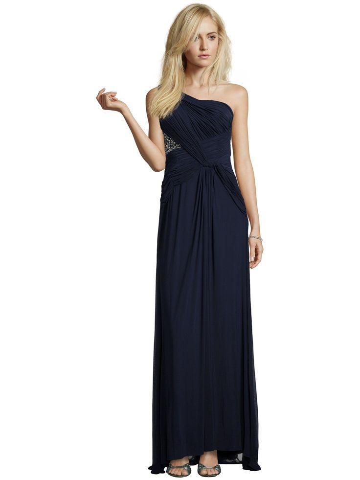 Luxuar Abendkleid Mit Oneshoulderträger In Blau / Türkis