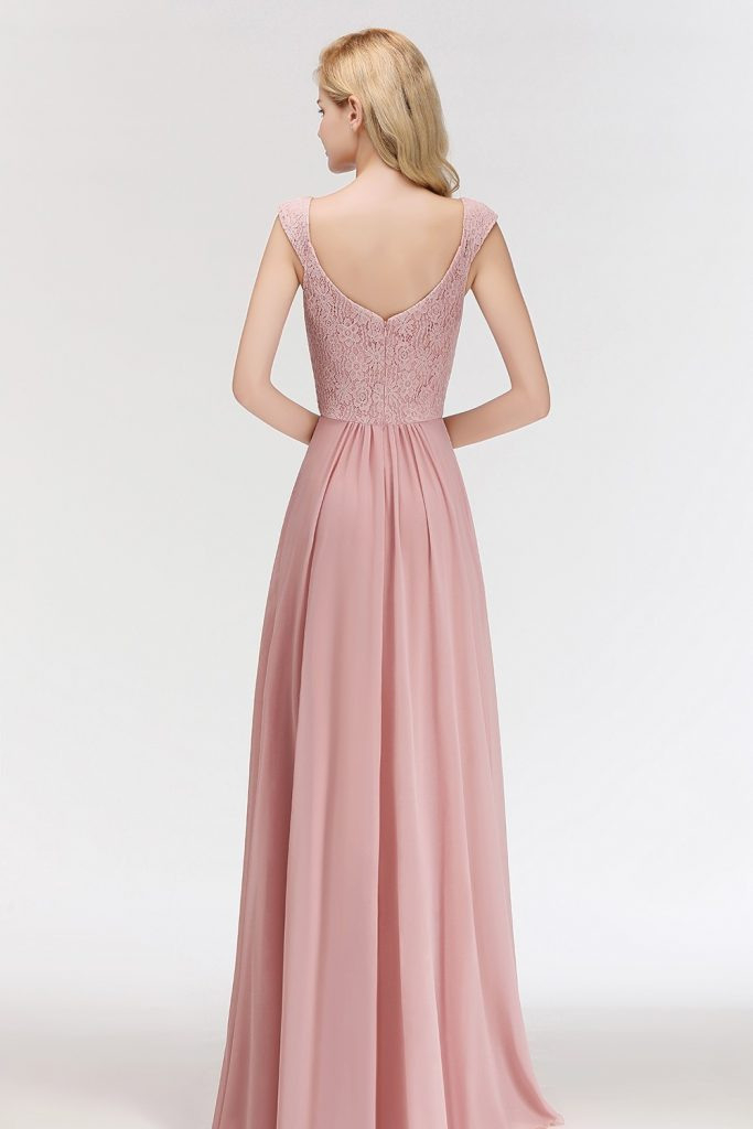 Luxurius Rosa Kleid Lang Stylish  Abendkleid