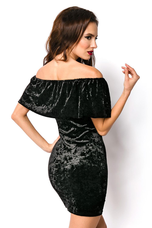 Luxury  Good Dessous Damen Samtkleid In Schwarz  Kaufen