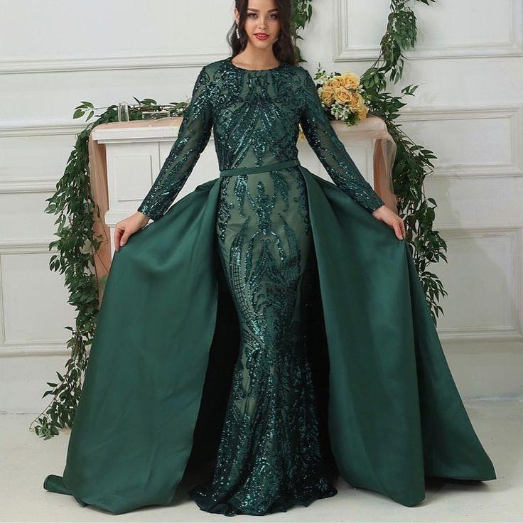 Luxus Abendkleider Mit Ärmel Grün  Abiballkleider Lang