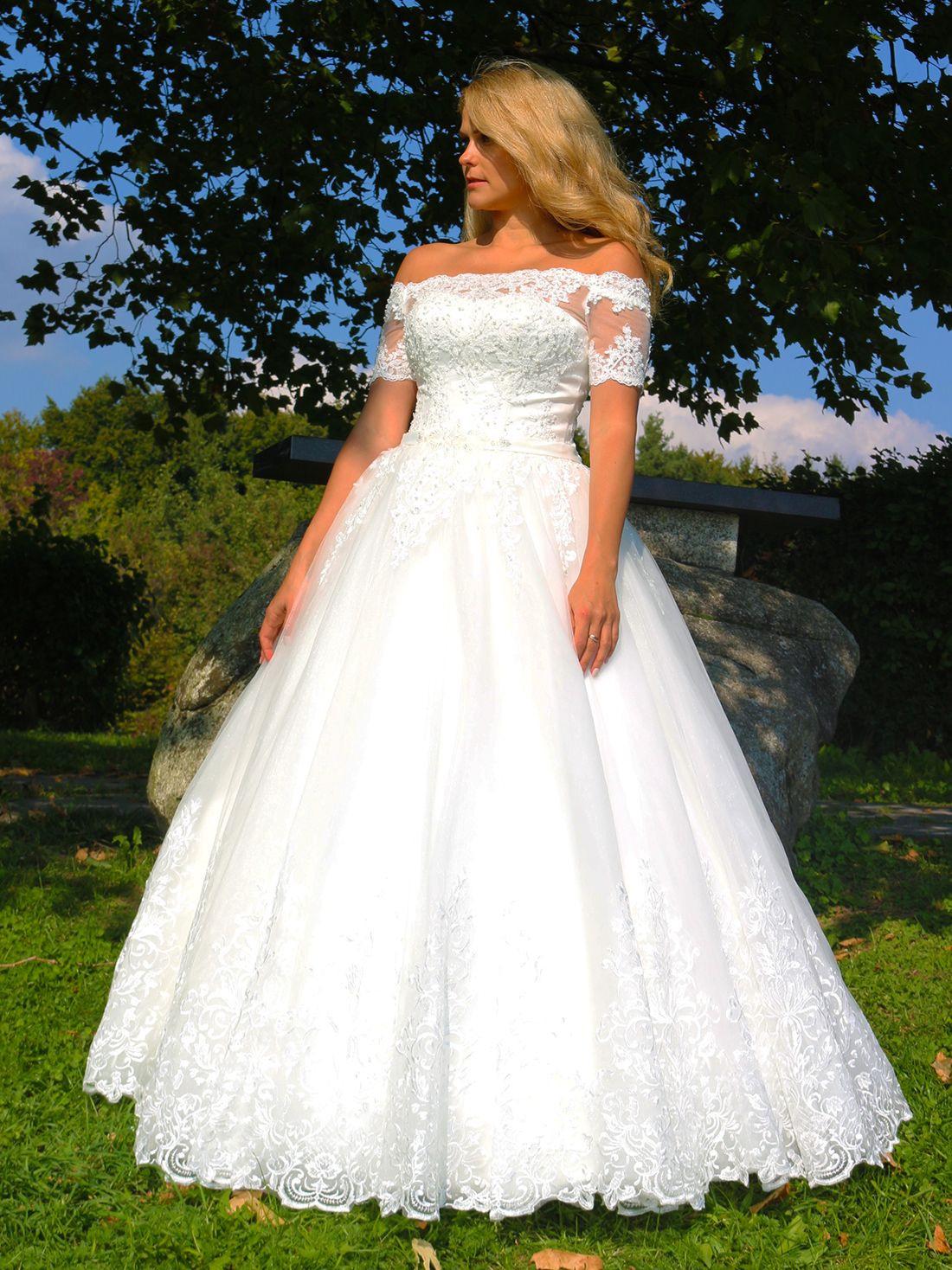 Luxus Brautkleid Hochzeitskleid Neu Braut Spitze