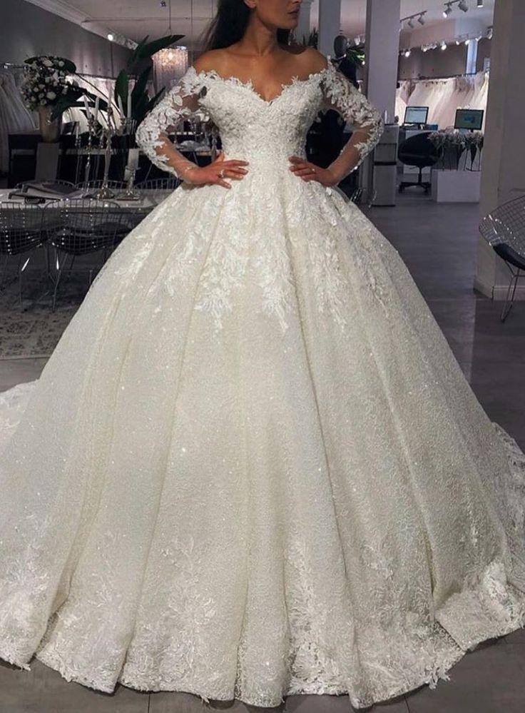 Luxus Brautkleider Prinzessin Mit Glitzer