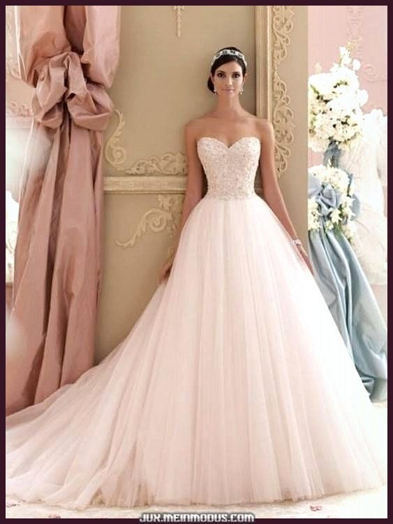 Luxus Brautkleider Weiß Labg Ärmel Kristall Tüll