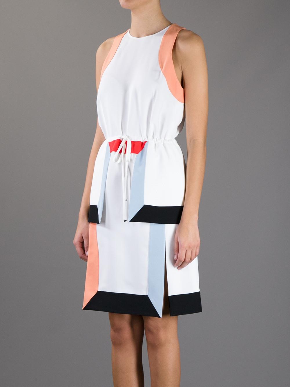 Lyst  Fendi Sleeveless Drawstring Dress In White