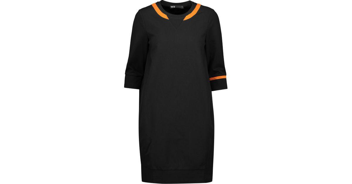 Lyst  Y3  Adidas Originals Stretchjersey Dress In Black