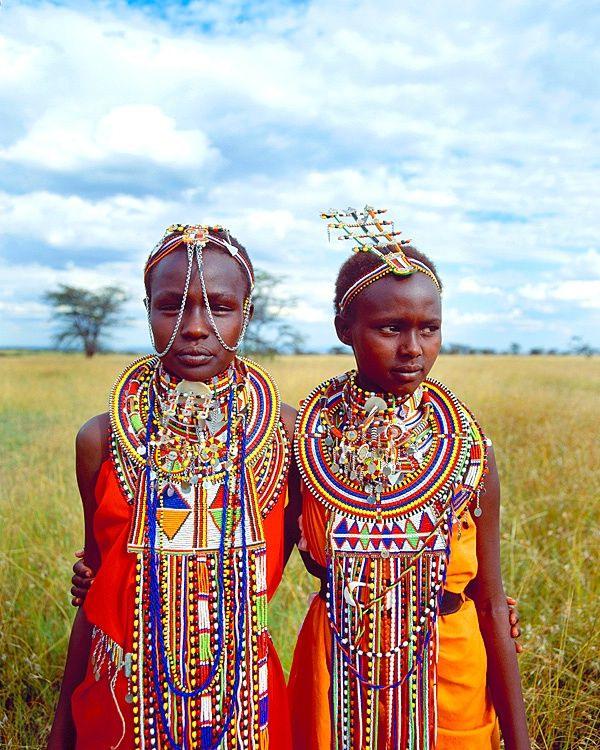 Maasai Girlsmassai Mara National Parkkenya  African