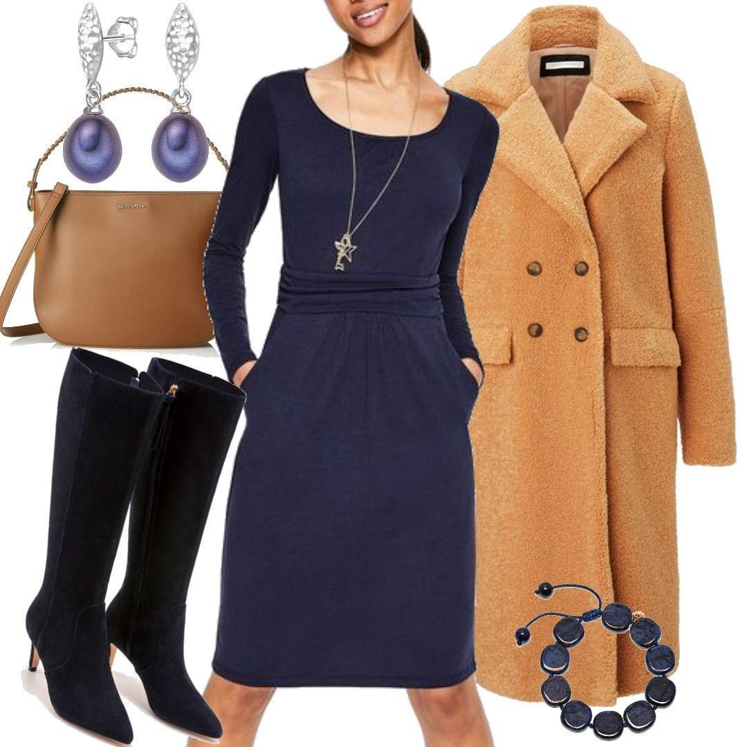 Mabel Jerseykleid Navy Damen Boden Für Damen Zum