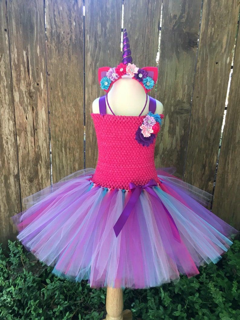 Mädchen Einhorn Kostüm Halloweenkostüm Einhorn Tutu Kleid