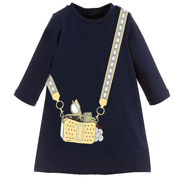 Mädchen Kinder Kleid Einhorn Herbst Lange Ärmel Sweatshirt