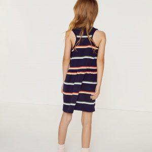 Mädchen Kleid Aus Baumwollpiqué Mit Colorblocks  Lacoste