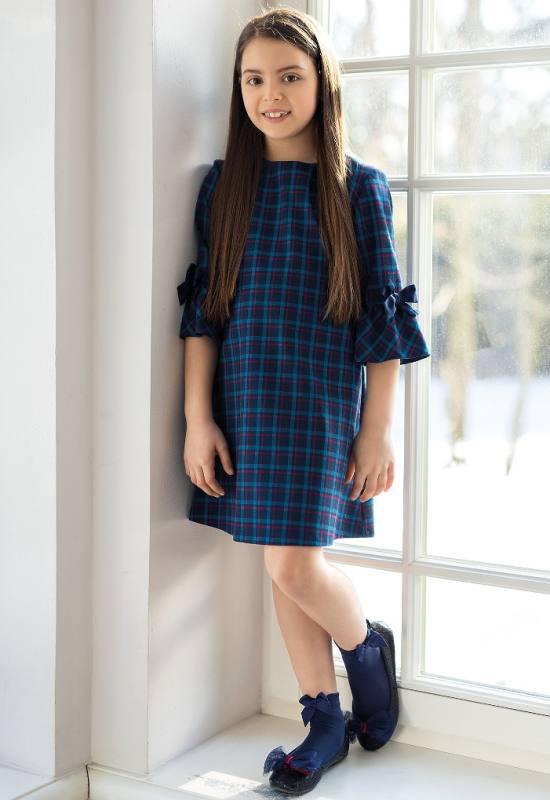 Mädchen Kleid Festlich Einschulung Weihnachten Kariert
