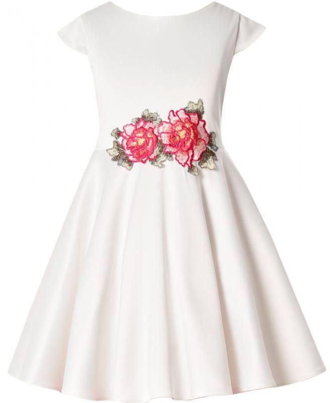 Mädchen Kleid Festlich Jugendweihe Hochzeit Blumenmädchen