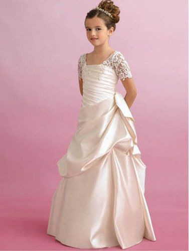 Mädchen Kleid Kommunion Fest Hochzeit Ballkleid Neu Gr128