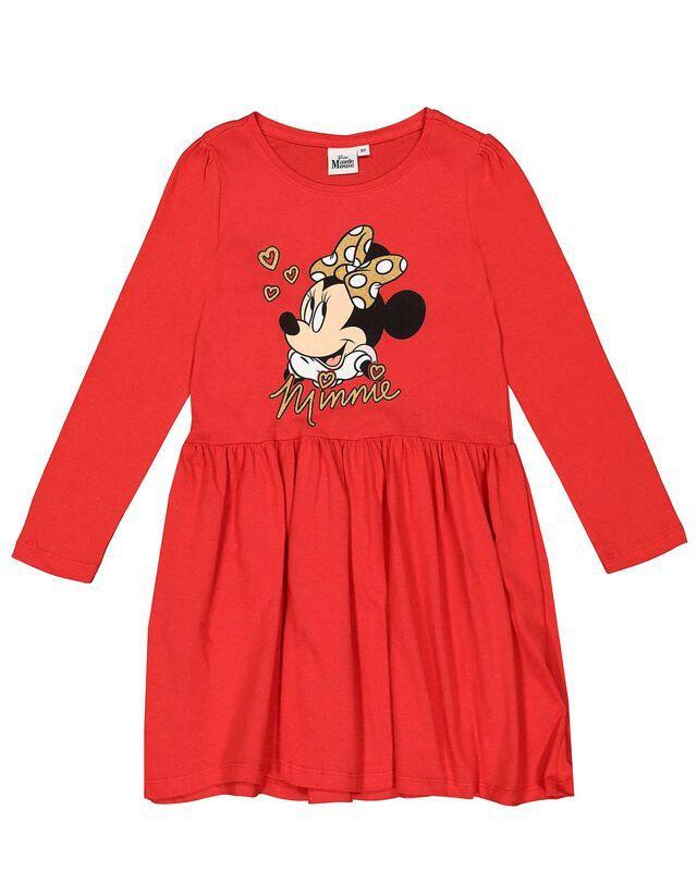 Mädchen Kleid Mit Minnie Mouseprint  Takko Fashion