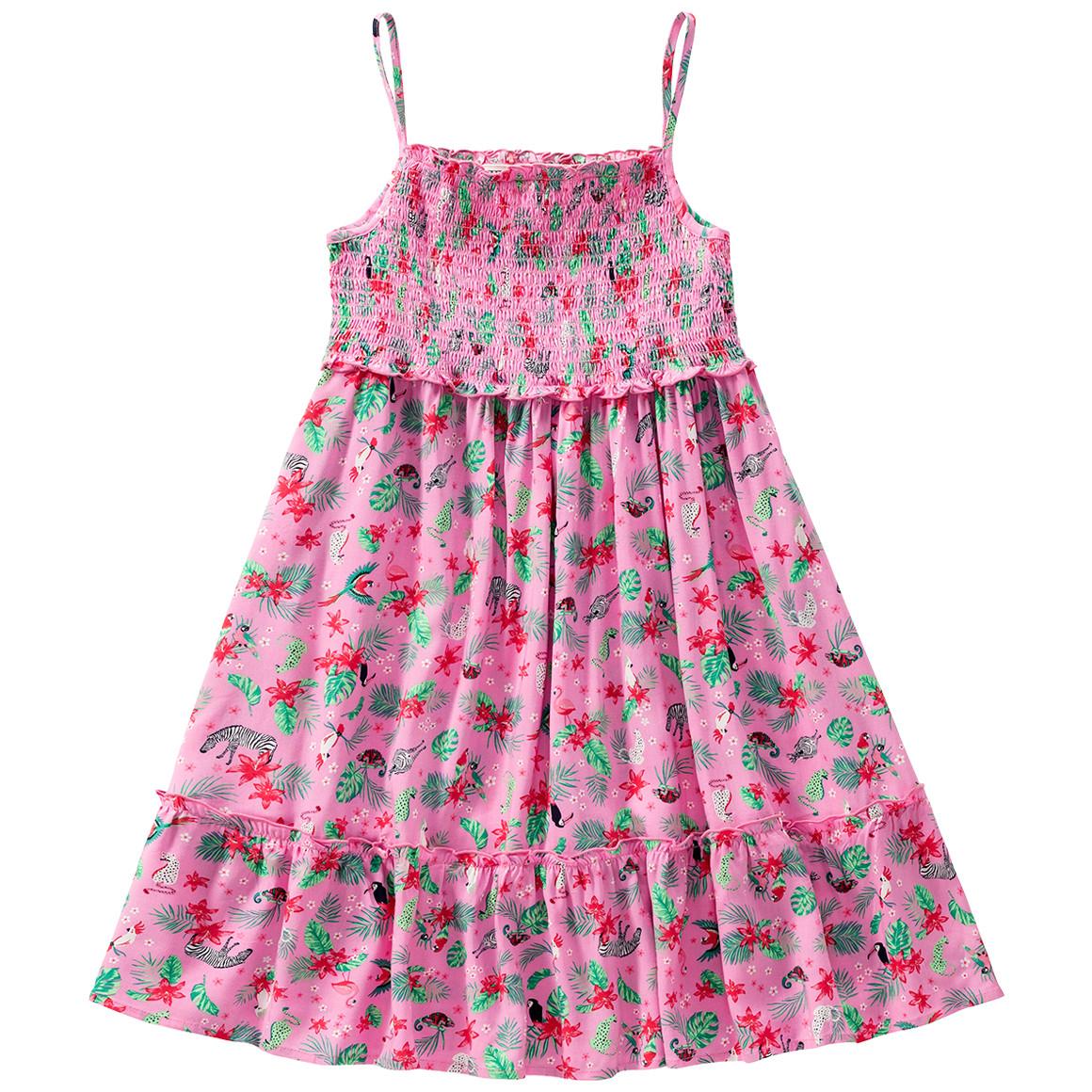 Mädchen Kleid Mit Tropicalprint  Ernsting'S Family