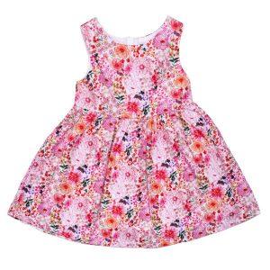 Mädchen Sommerkleid Mit Blumenmuster Ohne Ärmel  Panco