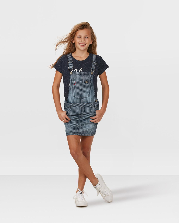 Mädchenlatzkleid Mit Streifenmuster  79643061  We Fashion