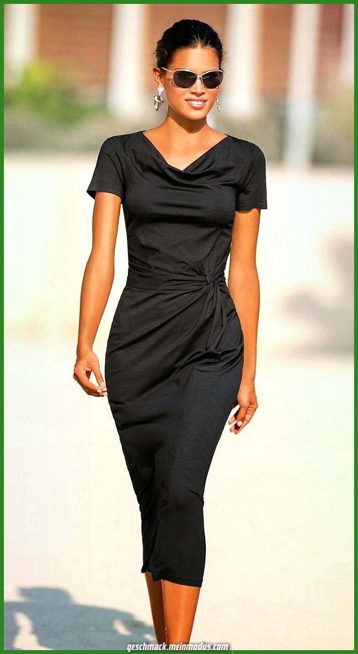 Madeleine Jersey Schwarzes Kleid  Outfit Mode