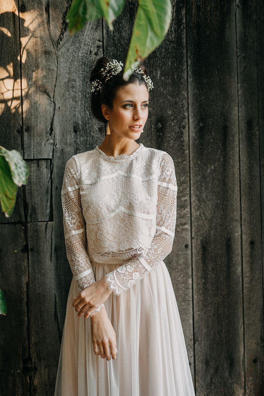 Mallorquinischer Boho Schleifenfänger Brautmode 2019