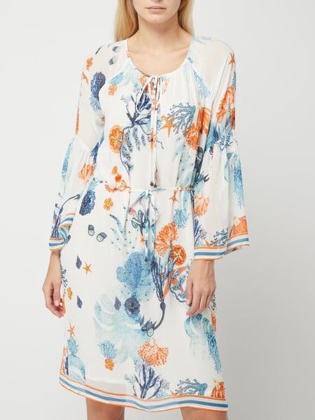 Malvin Kleid Aus Viskosekrepp Mit Zierperlenbesatz In Blau