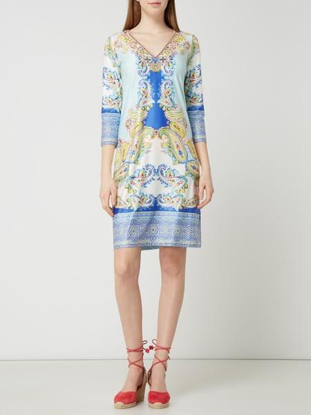 Malvin Kleid Mit Zierperlen In Blau / Türkis Online Kaufen