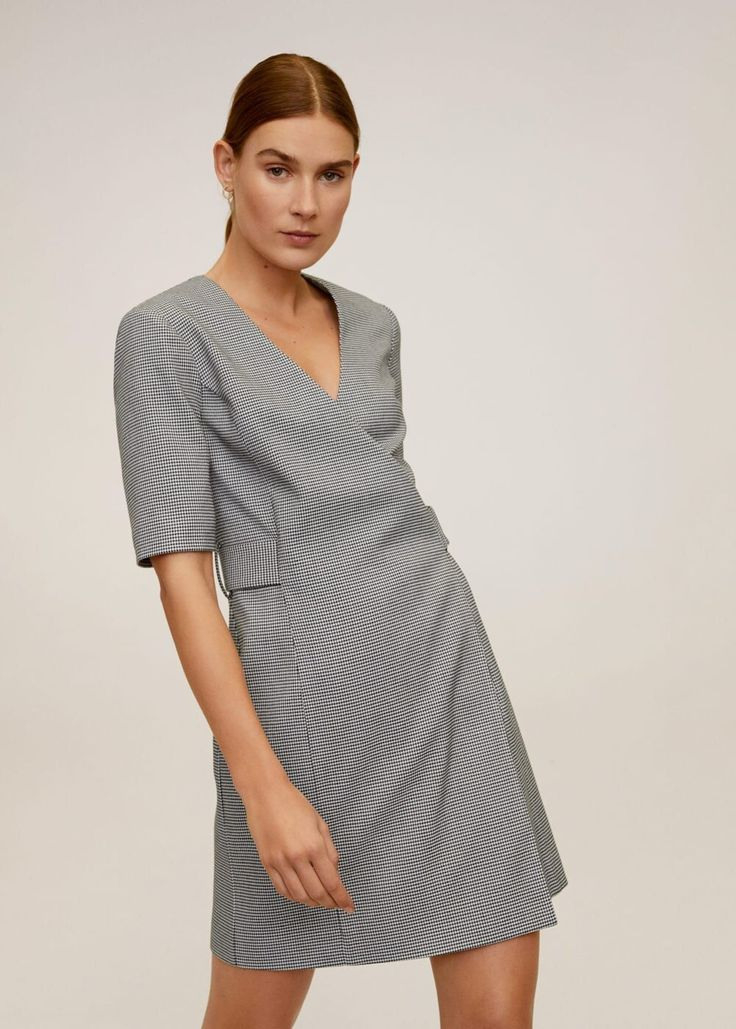 Mango Kleid   39 Borecuad   39 In Schwarz Und Weiß