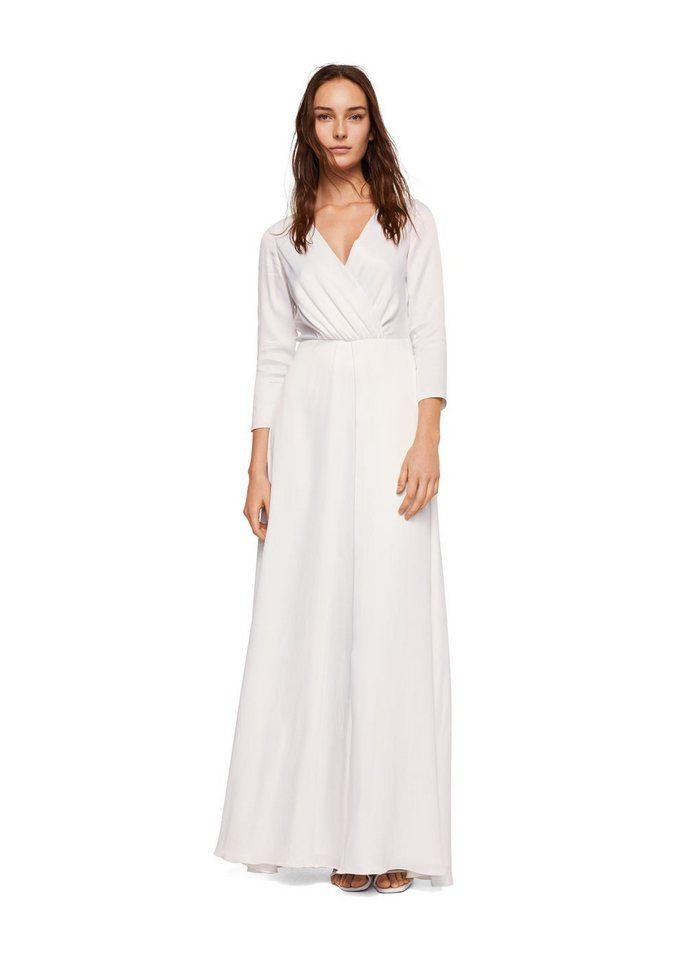 Mango Langes Kleid Im Wickelstil  Lange Kleider Kleider