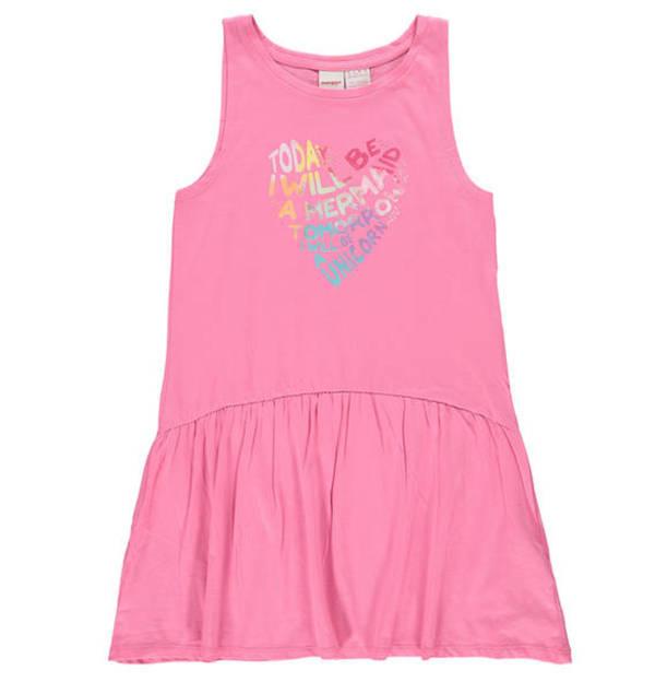 Manguun Kids Kleid Reine Baumwolle Glitzerprint Für