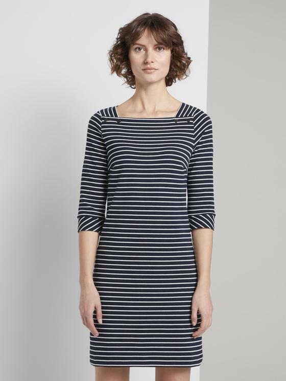 Maritimes Kleid Mit Streifen Blau  Von Tom Tailor