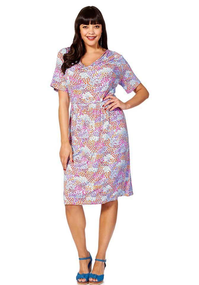 Markenmillefleurskleid Bunt  Kleider  Outlet Modeshop