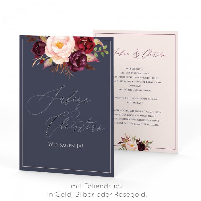 Marsala  Einladung A5 Postkarte  Einladungen