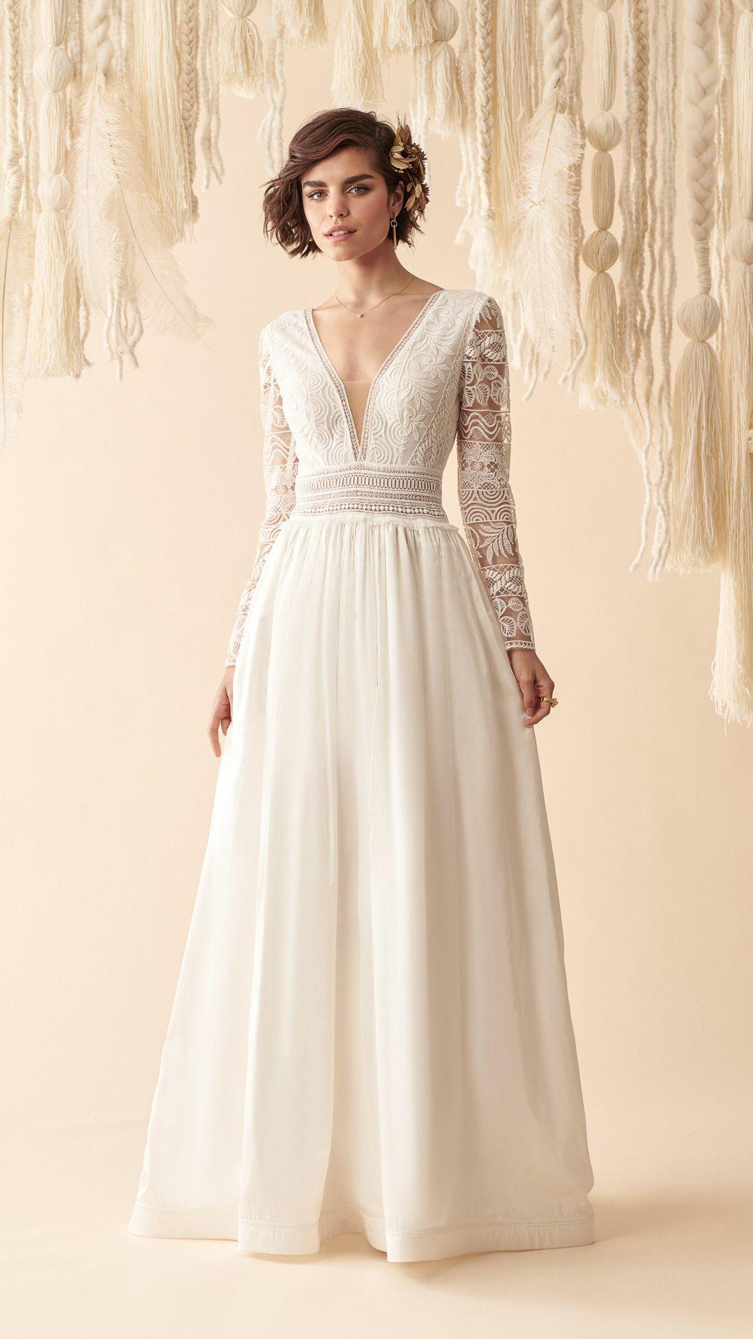 Marylise 2020  Brautkleid Vintage Kleid Hochzeit