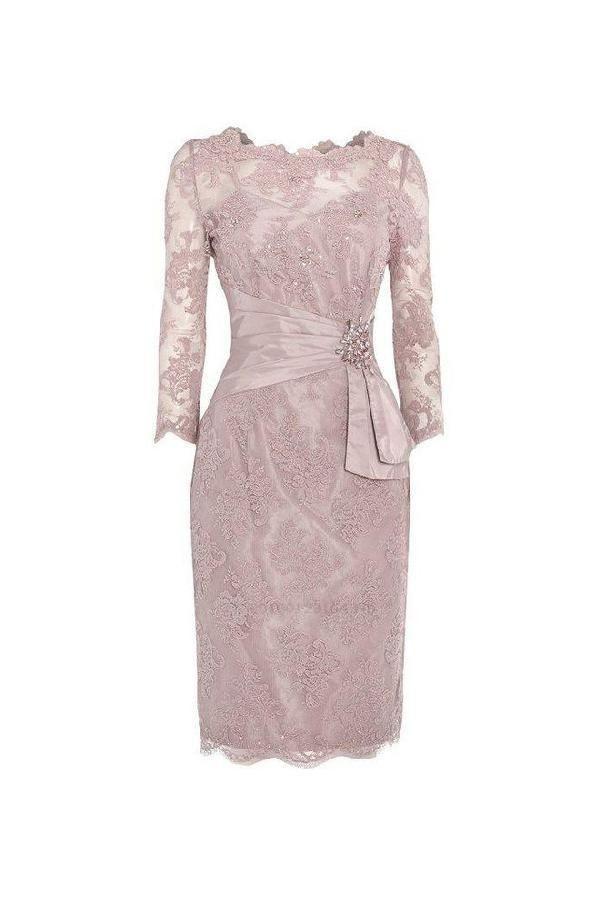 Maßgeschneiderte Trendige Brautjungfernkleider Pink Three