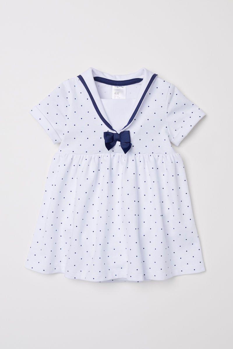 Matrosenkleid  Weiß/Gepunktet  Kinder  Hm De  Mode