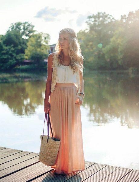 Maxi Kleid Hochzeitsgast  Bodenlange Röcke Maxirock