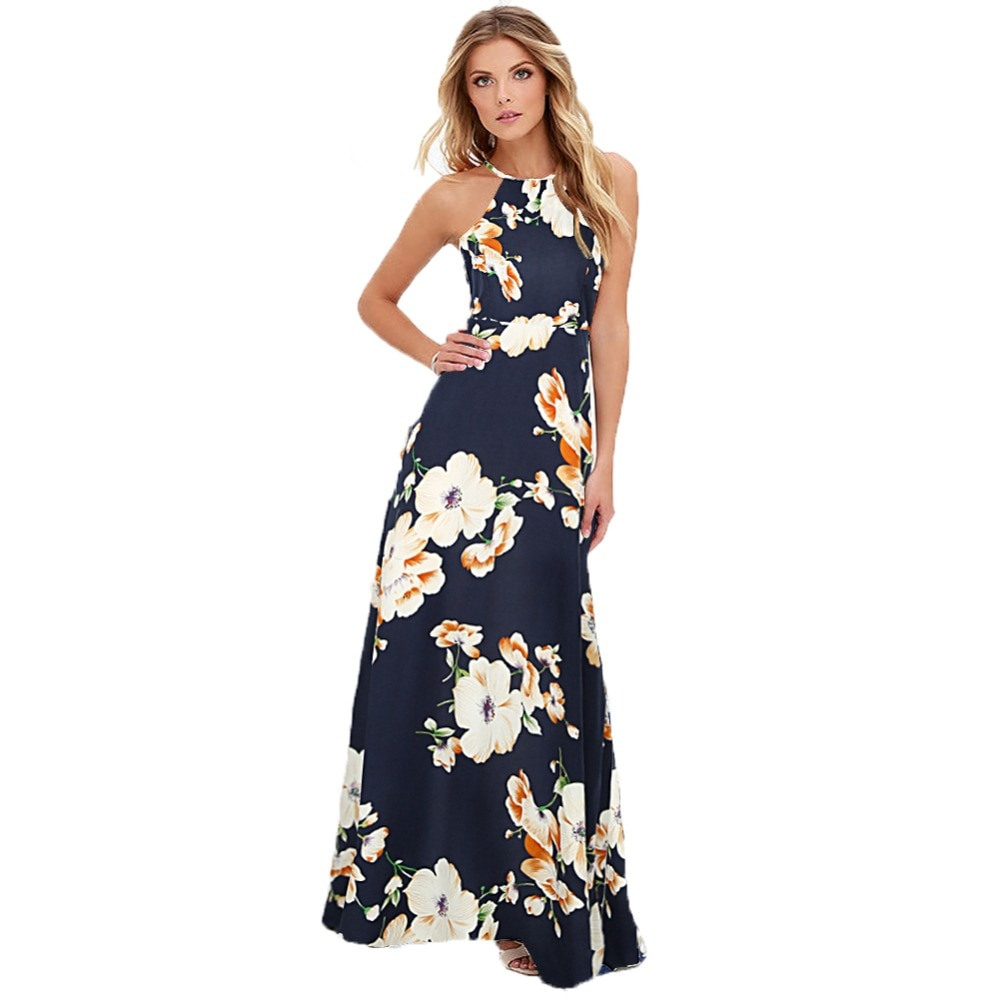 Maxi Long Dress 2019 Summer Dresses Women Floral Print