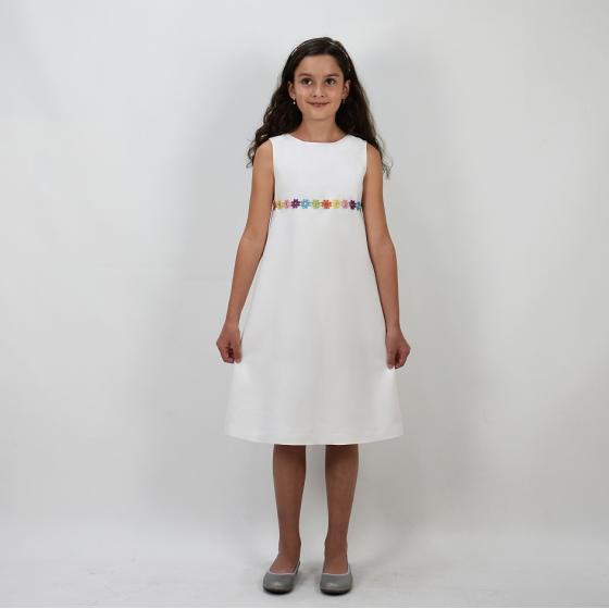 Maxi Viskose Weiß Kommunionkleid Verasposa 8900