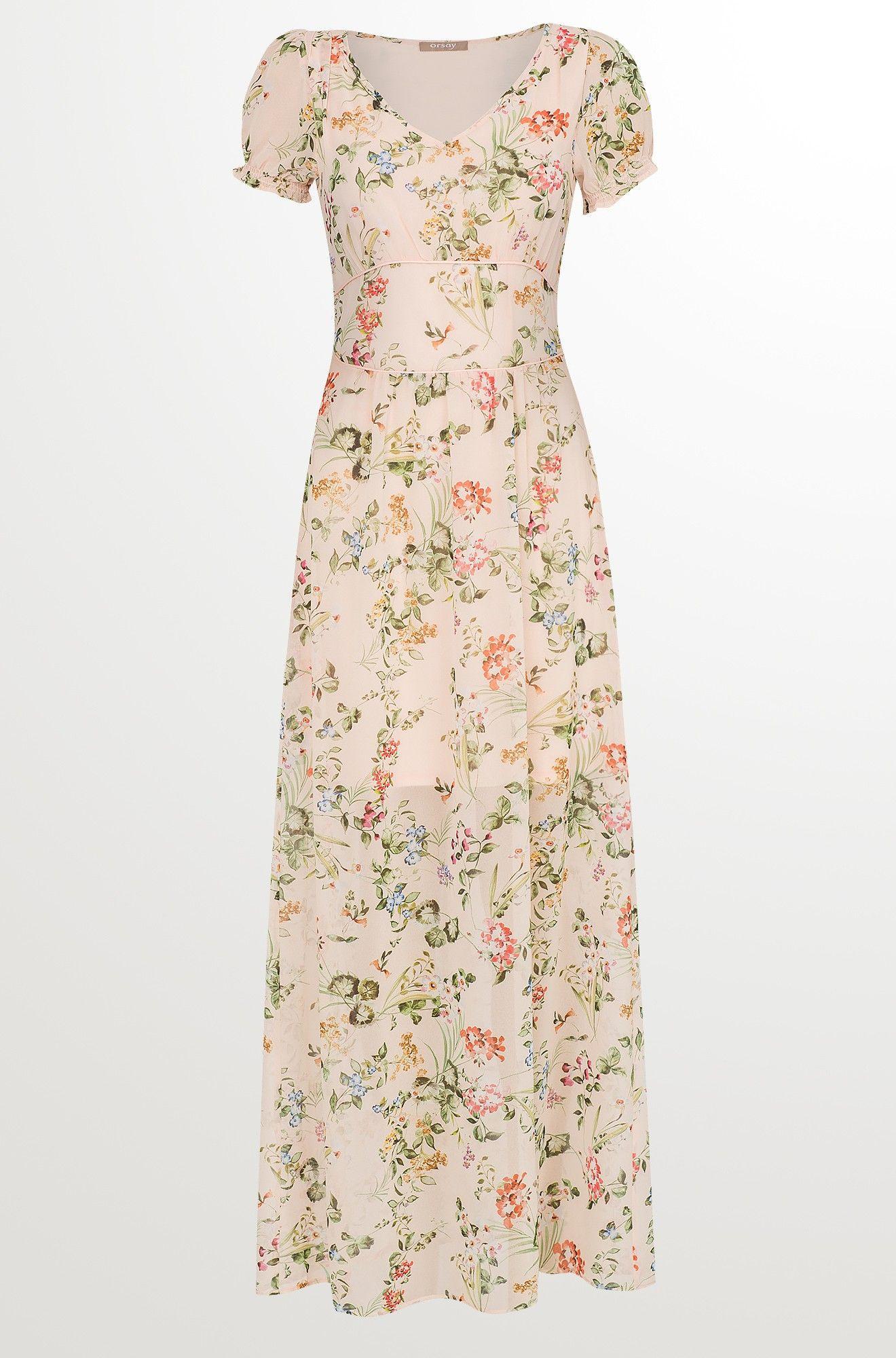 Maxikleid Aus Chiffon  Kleider Schöne Kleider Kleider