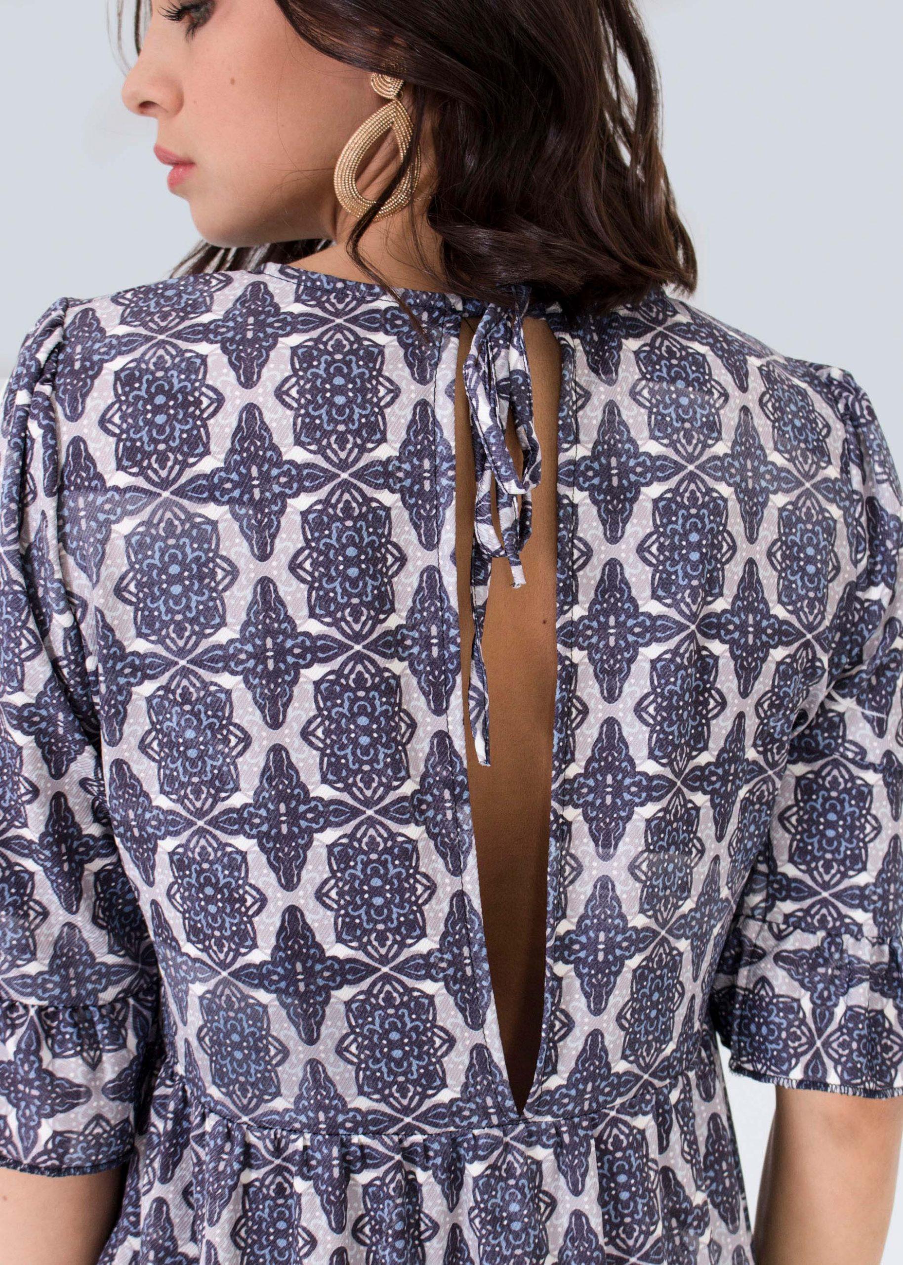Maxikleid Hinten Mit Schlitz Blau  Kleider  Bekleidung
