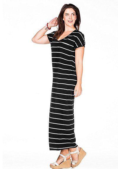 Maxikleid Mit Streifenprint  Kleider Damen Kleider In