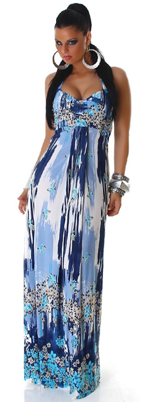 Maxikleid Sommer Blau