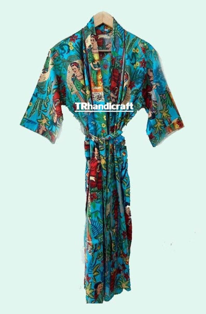 Maxine Frida Kahlo Kleid Kimono Kleid Lange Siefrei Größe