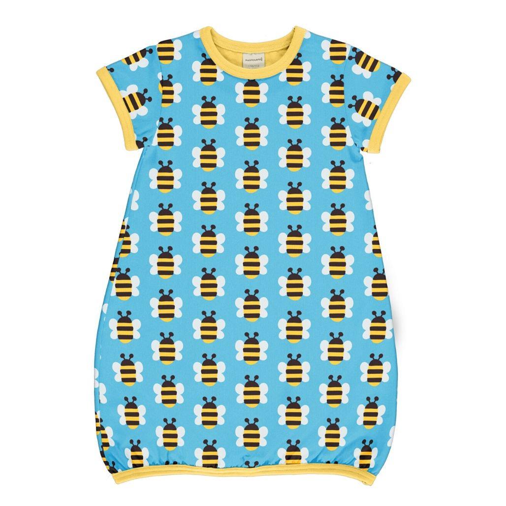 Maxomorra Ballonkleid Ss Bienen Humble Bumblebee