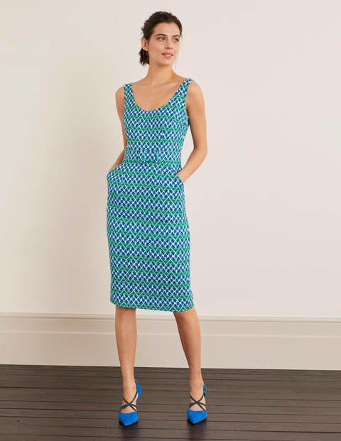 May Strukturiertes Kleid  Sattes Smaragdgrün