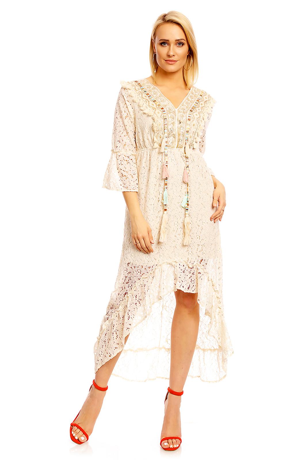 Mayaadi Ibiza Kleid Bohemia Minikleid Strandkleid