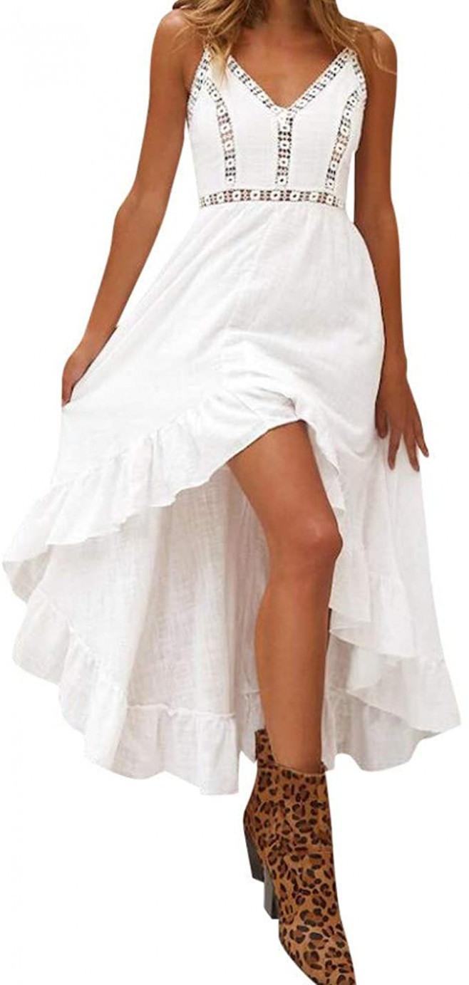 Meilinvren Kleider Sommer Damen Lange Boho Kleid