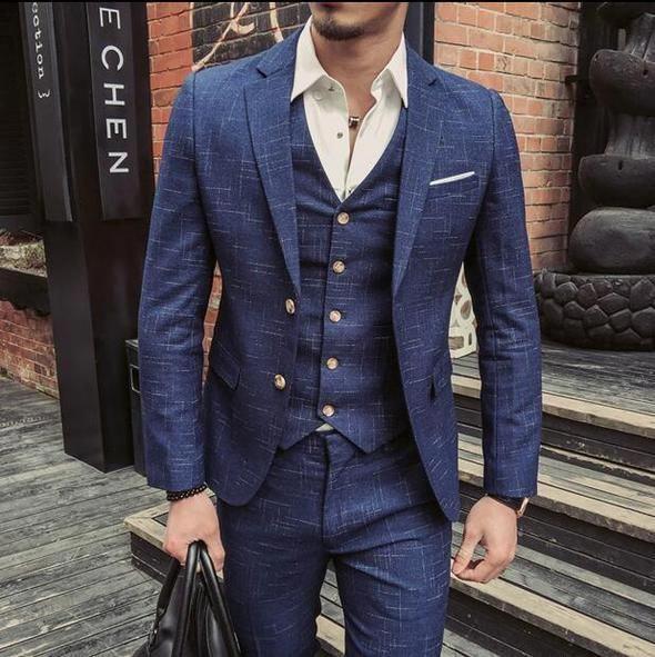 Mensshirtsclearancesale  Herren Anzug Weste Anzug