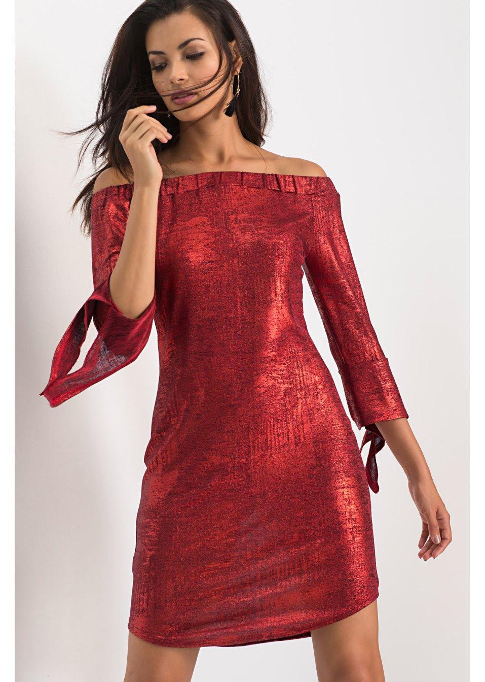 Metallic Kleid Aus Jersey Silber - Bodyflirt Online