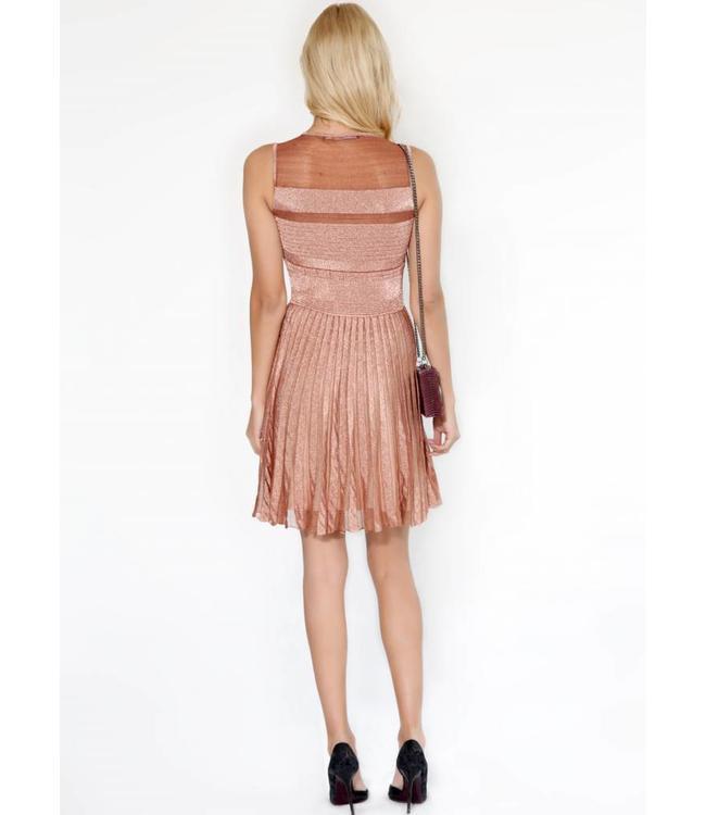 Metallisches Plisseekleid  Fashion Emergency